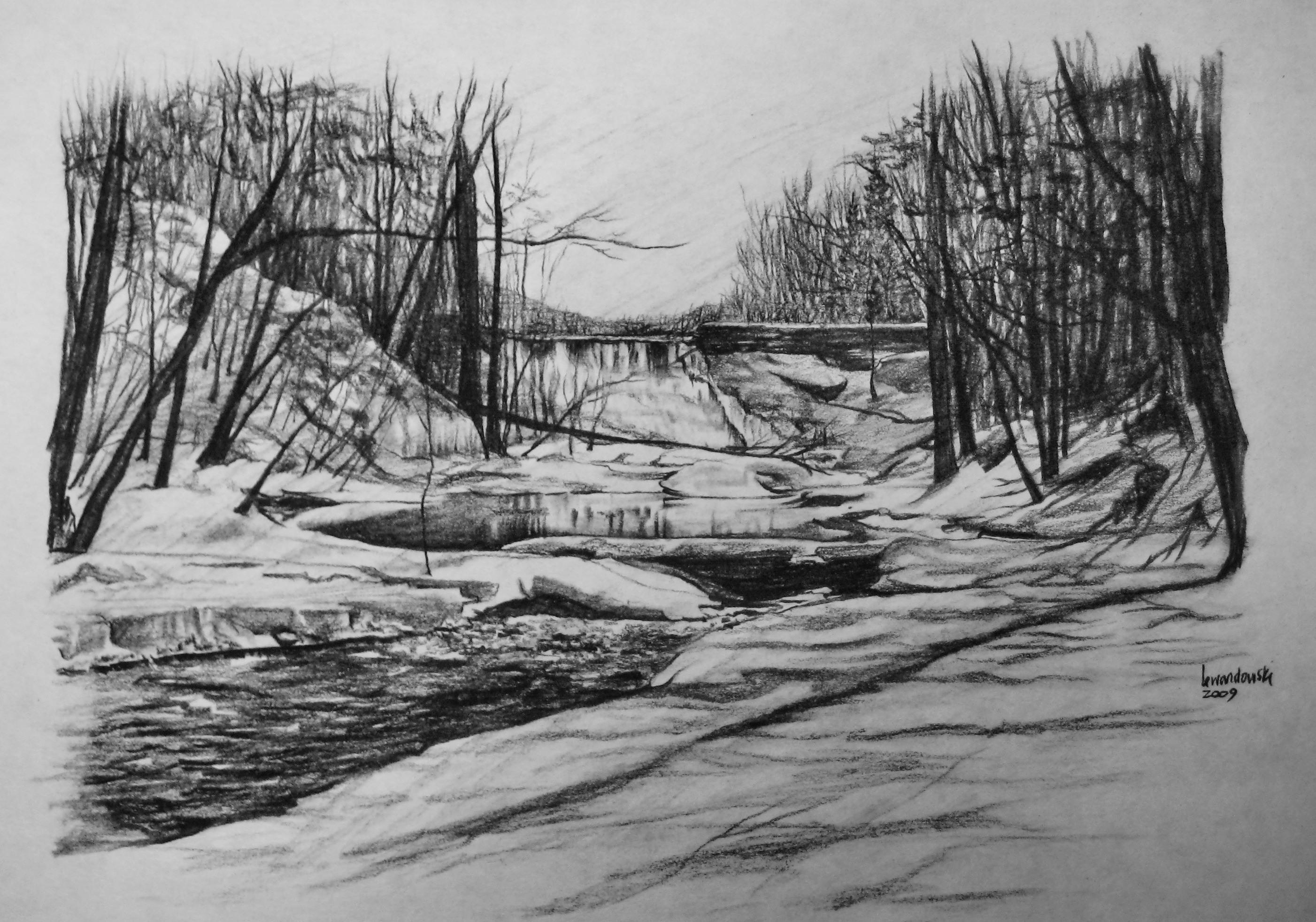 landscape charcoal sketches - photo #21